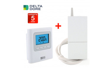 Pack Thermostat + Régulateur X3D sans fil programmable