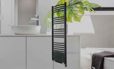 Sèche-serviettes électrique intelligent Soufflant Blanc