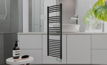 Sèche-serviettes électrique galbé connecté Néochrome